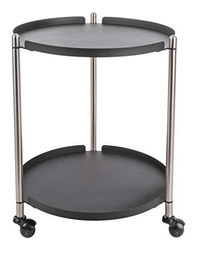 Present Time - Table d'appoint Noire Mate et métal Thrill