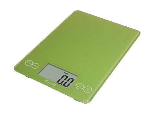 Escali 157LG DSC Glass Digital Kitchen Scale 15Lb/7Kg, Key Lime Green