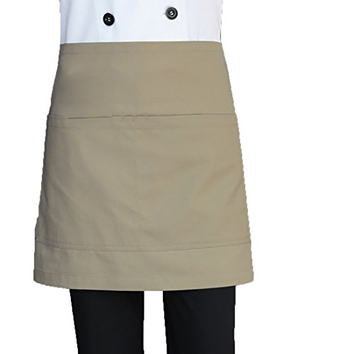 LissomPlume Schürze Arbeitsschürze Arbeitsschutzblech Küchenschürze Latzschürze Gastronomie Grillschürze - Khaki