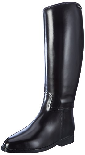 HKM Standard mit Reißverschluß Botas de Equitación, Mujer, Negro, 38 EU