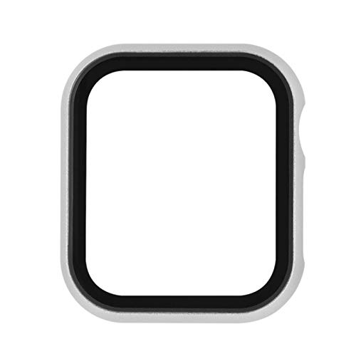 Parachoques de la Cubierta de la Caja del Marco del Reloj de Metal con película templada para Apple Watch 5 4 3 2 1 Caja 44MM 40MM 42MM 38MM Accesorios Protectores