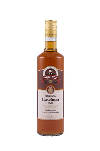 Hödl Hof Haselnuss Fass | 38% vol. | Haselnuss Schnaps im Holzfass gelagert (Eichenfass) | Gold World Spirits Awards 2018 | Haselnuss Spirituose gelagert im Holzfass | (0,7)