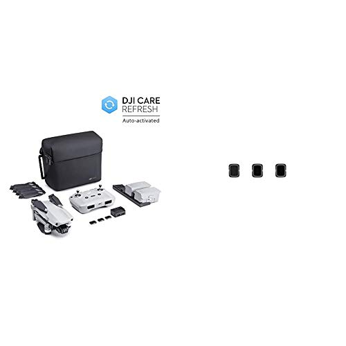 DJI Mavic Air 2 Fly More Combo y Care Bundle, Drone, Cámara 48 MP 4K + Air 2 ND Juego de Filtros (ND4/8/32)