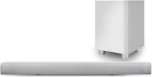 Pure Acoustics Wireless Bluetooth Sound Bar with Subwoofer - White