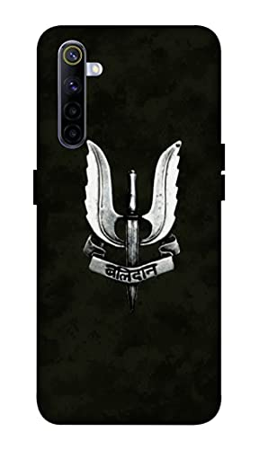 Oducos Designer Printed Hard Back Case And Cover For Realme 6 Tiranga, Indian Army, Cisf, Balidan Symbol, Bsf, Army Texture, Army Uniform, Military, Comoflage - Multi-Coloured