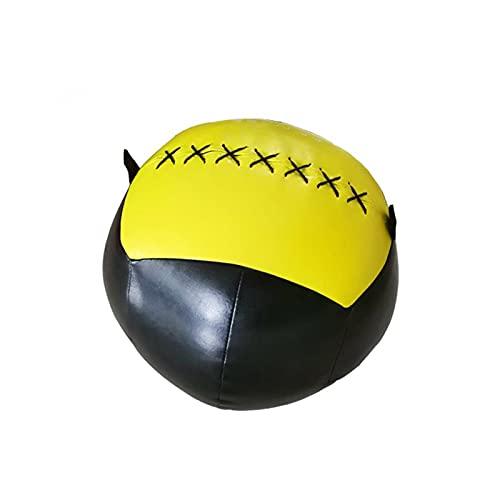 土嚢 空のスナッチウォールボール35cmのクロスフィット薬のトレーニングのバランストレーニングホームジムフィットネスソフトグリップ薬ボール 安定性が良く、持ち運びが簡単、 (Color : 3)