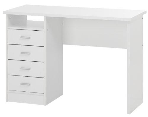 Tvilum SCRIVANIA con 4 CASSETTI Colore Bianco - L.110 x H.76 x P.48,5 CM