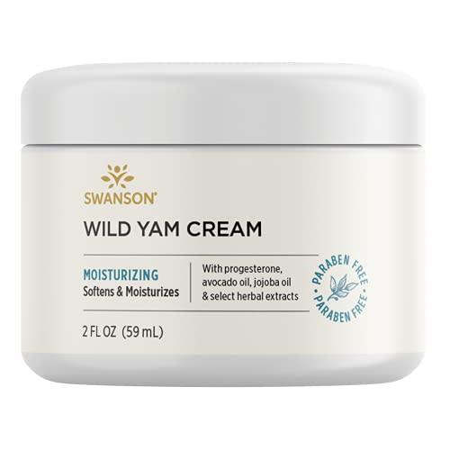 Swanson Wild Yam Cream Hormone Support Menopause Perimenopause Women's Health 2 fl Ounce (59 ml) Cream