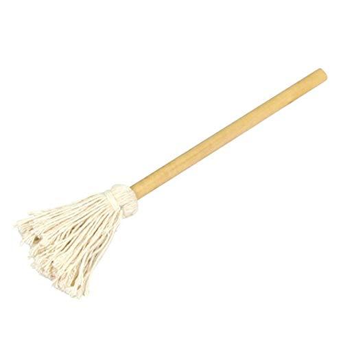 Daqin Cotton Mop Mit Langem Holzgriff for Grill, Grillbürste, Sauce Mop, Whisk Bürsten, Schrauben Mop, Ölpinsel, Grillzubehör 15.7 '40cm (Color : 1 PCS)