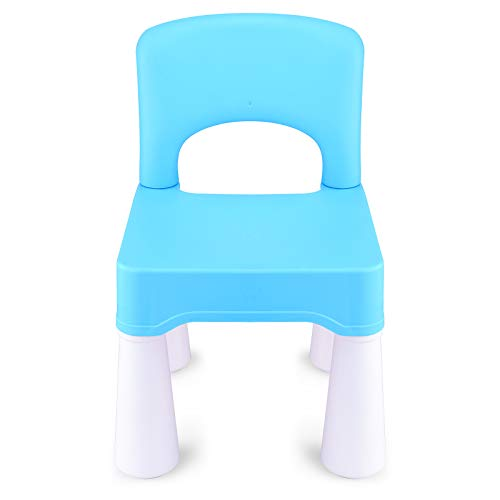estiones Kids Chair, Toddler Chair, Toddler Chairs for Boys and Girls, Ergonomic Design, Eco-Friendly Durable Plastic, Indoor or Outdoor Use Kids Chairs for Boys and Girls (Sky Blue)