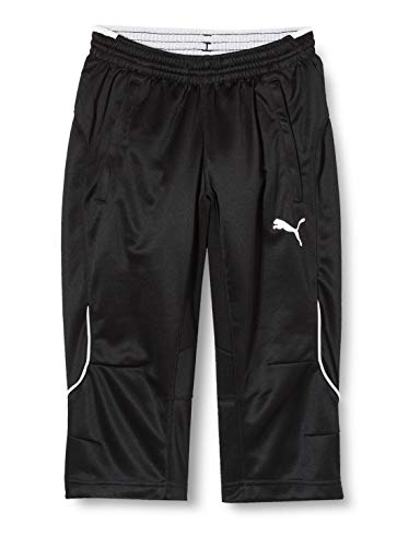 PUMA Kinder Hose 3/4 Training Pants, Black/White, 176
