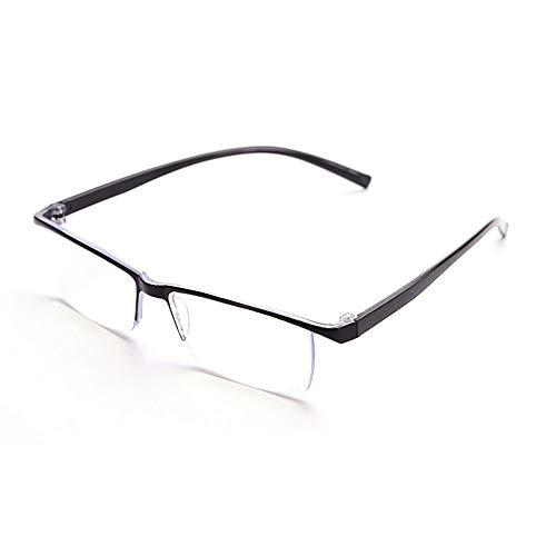Gafas de lectura de media montura anti-luz azul de alta definición, patillas flexibles, no fáciles de romper, pueden ser utilizadas por hombres y mujeres de mediana edad y ancianos, súper ligeras y