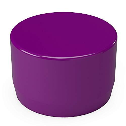 "FORMUFIT F001EEC-PU-10 PVC External End Cap, Furniture Grade, 1"" Size, Purple (Pack of 10)"