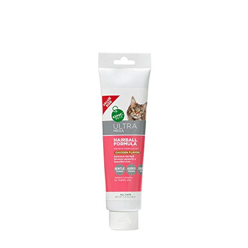 GNC Pets Ultra Mega Hairball Formula Gel Supplement for Cats, 5 Ounces - Chicken Flavor | Value Size