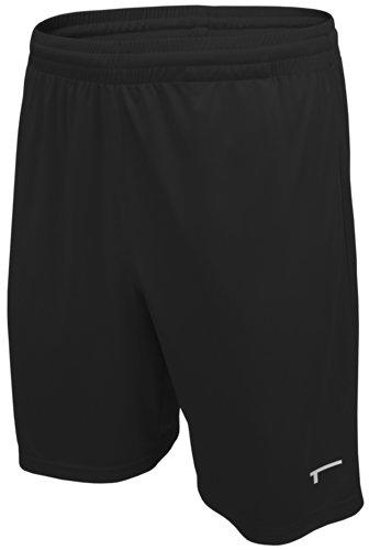TREN Herren COOL Ultra Lightweight Polyester Short Sporthose ohne Seitentaschen Schwarz 001 - L