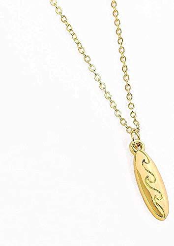 huangshuhua Collar con Colgante de Tabla de Surf, Collar para Mujeres, Hombres, Collares delicados, Gargantilla de Amor J Love Surfer, joyería, Regalos, Collar, Regalo