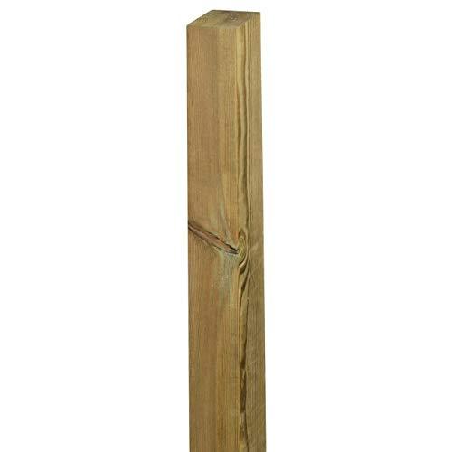 Palo Montante Quadrato 9x9x210 cm, Pino Impregnato in Autoclave, per Steccati Palizzate Recinzioni Frangivista