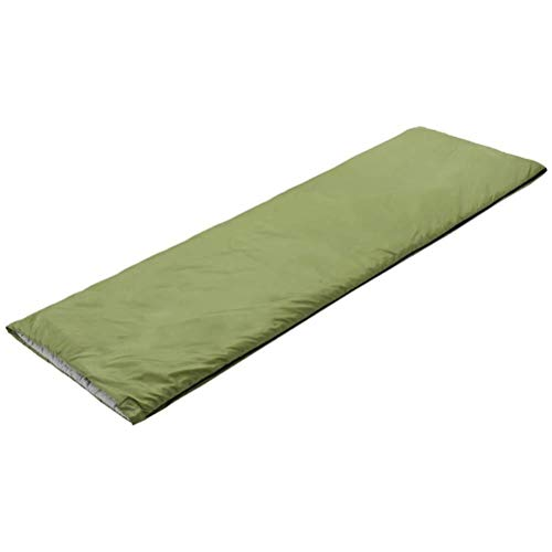 sleeping bag Portable, three quarters cotton envelopes, waterproof, comfort and compression bags backpacks, and trekking holiday, color: green (Color : Green)
