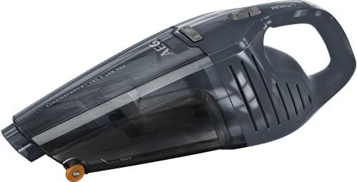AEG HX6-13DB-W Akku Handstaubsauger Wet & Dry / für trockene + nasse Oberflächen / 13 min Laufzeit / 2 Leistungsstufen / Zubehör / 500 ml / intelligente Ladeabschaltung / Ladekontrollanzeige / blau