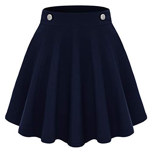 Gardenwed Gonna da Scuola Bambina da Tennis A Pieghe A Vita Alta Mini Gonna Estiva Kawaii Vestiti Tennis Skirt Navy M