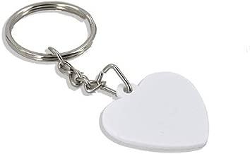 10pcs/pack Diy Sublimation Keychain Plastic Keyrings White heart shape keychain blank Key Chain for Heat Press Transfer Thermal transfer cute keychain