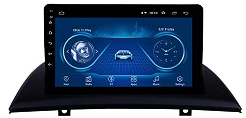 WYFWYT Navigationsgeräte Auto Android 10.0 für BMW X3 E83 2004-2012 Navi Autoradio 9 Zoll Touchscreen Stereo TV Player Auto mit Lenkradkontrolle Bluetooth DAB SWC Mirror Link,4G+Wife:2+32G