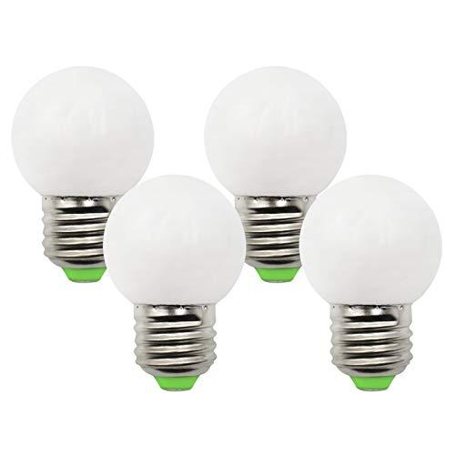 Bombillas LED de golf de 3 W, E27, G45, 230 V, color blanco cálido, 2700 K, repuesto para bombilla halógena de 30 W, E27, intensidad regulable, paquete con 4 unidades