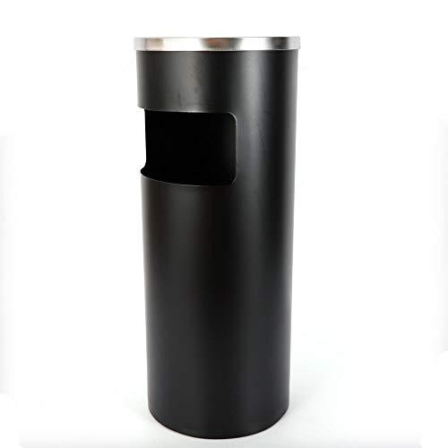 MINUS ONE Contenedor de Cigarrillos de cenicero de pie de Acero Inoxidable, Contenedor de Basura para cenicero de Interior y Exterior de 30L (Negro)