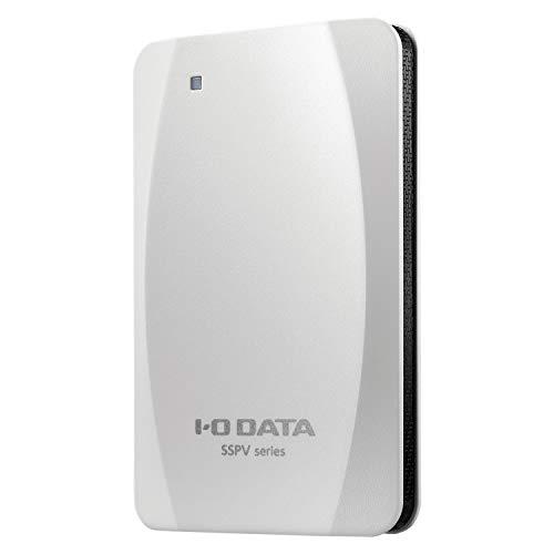 I-O DATA ポータブルSSD 960GB 静音 耐衝撃 軽量 PS4 PS5対応 縦置きスタンド付き Win/Mac両対応 USB3.2(Gen2) SSPV-USC960GE