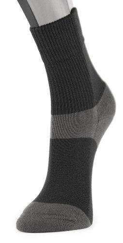 Lindner socks Diavital - Wandersocken - Diabetikersocken, 38-40, schwarz