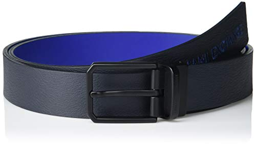 ARMANI EXCHANGE Made in Italy Belt Cintura, Navy/Blu – Navy/Blu, Taglia Unica Uomo