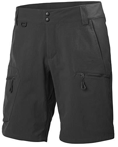 Helly Hansen Crewline Cargo Shorts Pantalones Cortos, Hombre, Ebony, 36