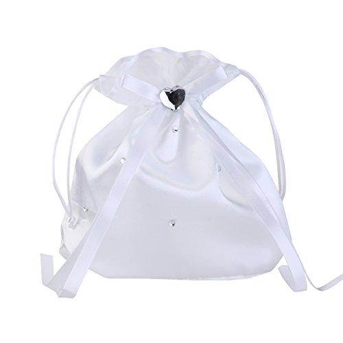 LUOEM Brautbeutel Brauttasche Weiße aus Satine