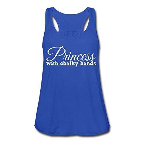 Turnen Klettern Kraftsport Princess Chalky Hands Frauen Tank Top von Bella, S, Royalblau
