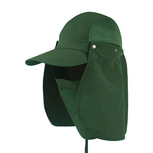 19821 RUIRUI Sombrero al Aire Libre 360 Protector Solar Transpirable y Secado rápido Ajustable Pesca de Pesca Lengua Protectora de béisbol Hombres y Mujeres (Color : F)