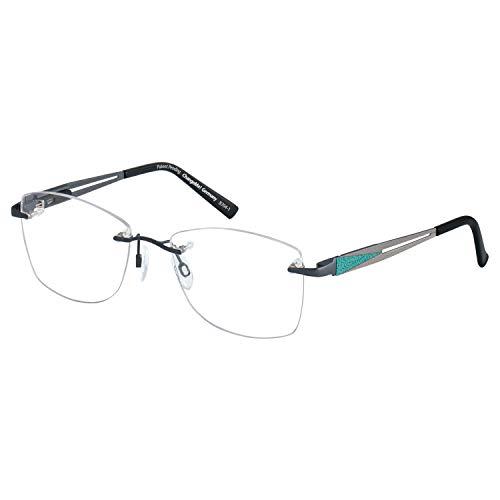 Change Me randlose Brille 2466-1 mit Wechselbügel 8704-1 grau