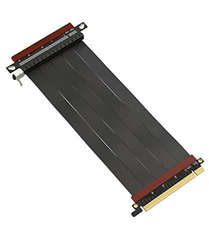 LINKUP - Ultra PCIe 4.0 X16 Riser-Kabel [RTX3090 x570 B550 RX6900XT Getestet] Vertikale Steigleitung Portverlängerungs Gen4┃GPU-Sockel Umkehren {25cm} Entwickelt für die Serien ITX+NVIDIA/AMD6000