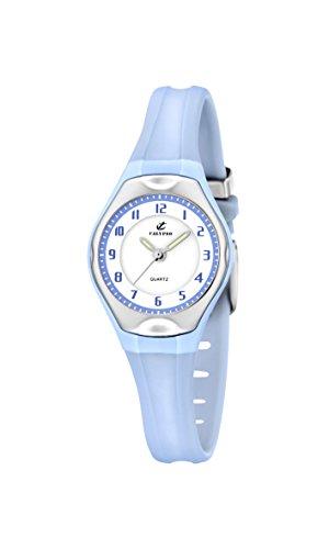 Calypso Watches - Reloj analógico de Cuarzo para niña con Correa de Caucho, Color Azul