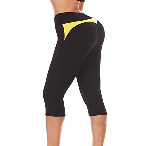 joyvio Pantalones de Sauna para Mujer Leggings para Sudor Pérdida de Peso Adelgazamiento Neopreno Hot Thermo Body Shaper Medias (Color : Black, Size : Small)