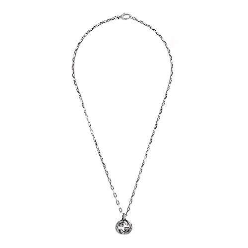 Gucci Collar de plata G entrelazado 50 cm/19,5 pulgadas Ybb60415500100u