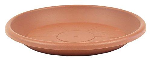 greemotion Soucoupe pour pot de fleur rond couleur terre cuite Ø44 cm - Dessous de pot de fleurs en plastique - Sous-pot pour plantes - Plateau pour pot de fleurs rond