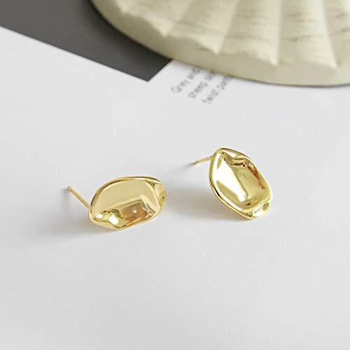 Pendientes irregulares de plata esterlina 925 de la vendimia del color del oro de la joyería para las mujeres punk