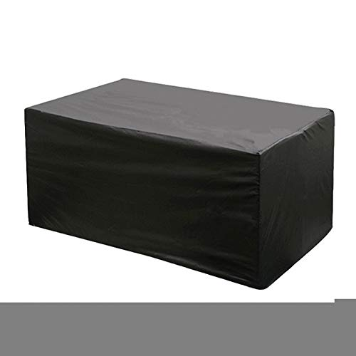 lINOC Patio Furniture Covers Garden Furniture Covers Black 420D Oxford Cloth Waterproof Suitable for Chairs Loveseats Ottomans Sofas Tables,325×208×58cm