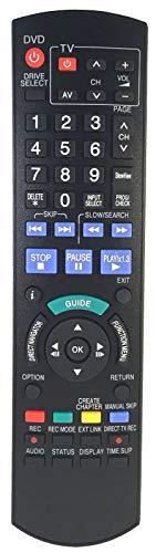 Ersatz Fernbedienung passend für Panasonic DVD DMR-EH49 | DMR-EH495 | DMR-EH495EG | DMR-EH495EGA | DMR-EH495EGS