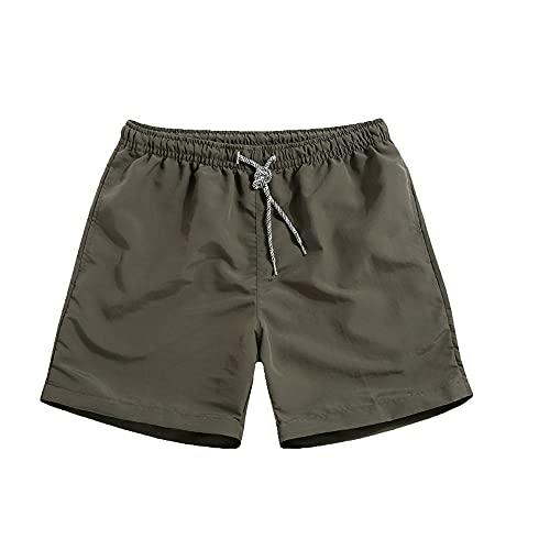 N\P Pantalones cortos de verano para hombre de gran tamaño elástico cintura transpirable playa