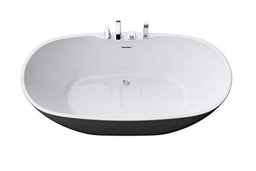 Freistehende Badewanne Acryl Wanne Standbadewanne mit Armatur 170x80x60 cm V605 Mai & Mai