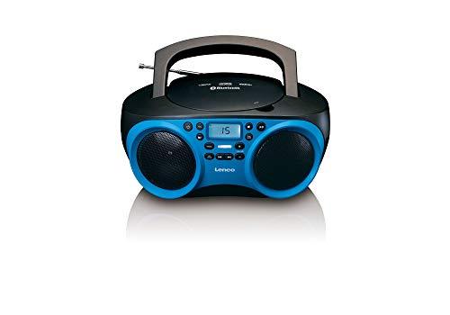 Lenco Radio CD-Player SCD-501 mit Bluetooth und USB in Blau/Schwarz