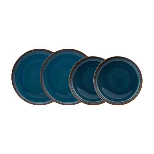 Villeroy & Boch 1951688547 Crafted Denim - Vajilla (4 piezas), color azul