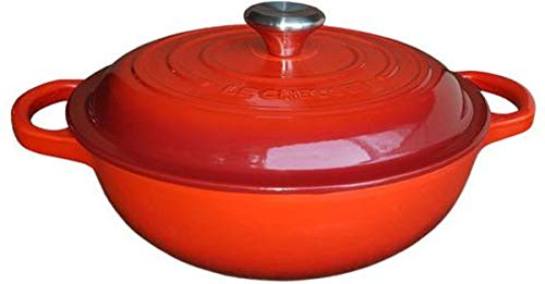 LE CREUSET - Tacho Marmita Gourmet 22cm da 09.1991.0805 - Vermelho, 22cm