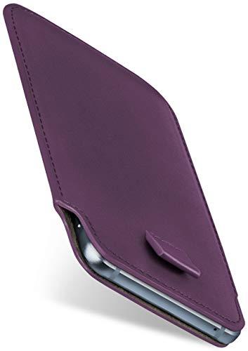 moex Slide Hülle für Nokia 3310 (2017) - Hülle zum Reinstecken, Etui Handytasche mit Ausziehhilfe, dünne Handyhülle aus edlem PU Leder - Lila